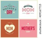 happy mothers day. retro... | Shutterstock .eps vector #409167715
