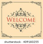 welcome lettering | Shutterstock .eps vector #409183255