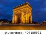 arc de triomphe in paris  france   Shutterstock . vector #409185931