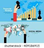 set of flat design illustration ... | Shutterstock .eps vector #409186915