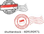 two postal grunge stamps ... | Shutterstock .eps vector #409190971