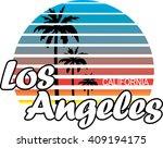 ''los angeles'' artwork for t... | Shutterstock .eps vector #409194175