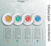 vector abstract 3d paper... | Shutterstock .eps vector #409194361
