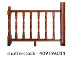 Wooden Porch Rails Isolated On...