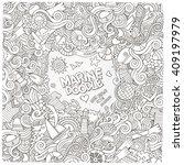 doodles abstract decorative... | Shutterstock .eps vector #409197979