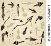 arrow drawing  vector | Shutterstock .eps vector #409202845