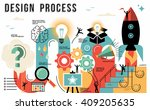 innovation design process... | Shutterstock .eps vector #409205635