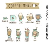 set of different coffee style... | Shutterstock .eps vector #409209181