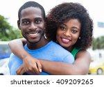 happy african american couple | Shutterstock . vector #409209265