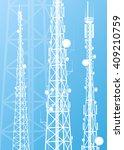 communication transmission...   Shutterstock .eps vector #409210759