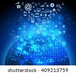 abstract technology circuit... | Shutterstock . vector #409213759