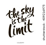 the sky is the limit.... | Shutterstock .eps vector #409216975