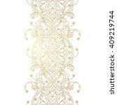 vector line art seamless border ...   Shutterstock .eps vector #409219744