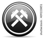 mining black circle glossy web... | Shutterstock . vector #409223851