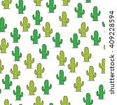 cactus doodle seamless pattern | Shutterstock .eps vector #409228594