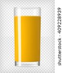 orange juice in a glass.... | Shutterstock .eps vector #409228939