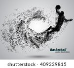 basketball player of particle.... | Shutterstock .eps vector #409229815