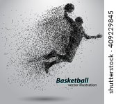 basketball player of particle.... | Shutterstock .eps vector #409229845