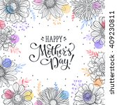 mother's day greeting card... | Shutterstock .eps vector #409230811