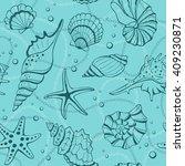 marine seamless background from ...   Shutterstock .eps vector #409230871