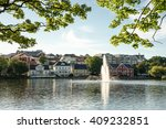 breiavatnet is the small lake... | Shutterstock . vector #409232851