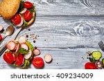 healthy food concept. tasty... | Shutterstock . vector #409234009