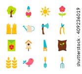 gardening tools objects set... | Shutterstock .eps vector #409236019