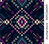 dark color tribal navajo vector ... | Shutterstock .eps vector #409236049