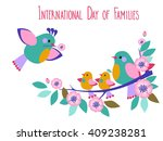 Vector Day Of Families Card...