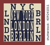 new york berlin london... | Shutterstock .eps vector #409241011