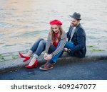 young french stereotypical... | Shutterstock . vector #409247077