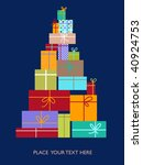greeting card with a christmas...   Shutterstock .eps vector #40924753