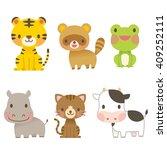 cute animals | Shutterstock . vector #409252111