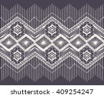 isolated crocheted lace border...   Shutterstock .eps vector #409254247