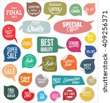 sale stickers and tags... | Shutterstock .eps vector #409256371