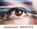Double Exposure Image Of An Ey...