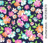 Colorful Flower Print  ...