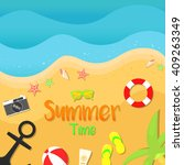 summer beach vector... | Shutterstock .eps vector #409263349
