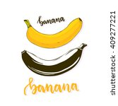 banana isolated vector. banana... | Shutterstock .eps vector #409277221
