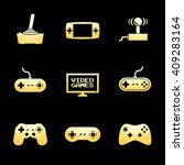 video games icon set with gold... | Shutterstock .eps vector #409283164