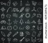 nautical icons set. hand drawn... | Shutterstock .eps vector #409289671