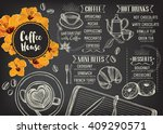 coffee restaurant brochure... | Shutterstock .eps vector #409290571
