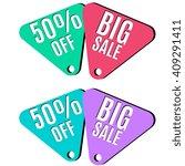 discount banners set vector ...   Shutterstock .eps vector #409291411