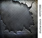 crack metal background template ... | Shutterstock . vector #40929388