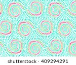 boho tie dye background. hippie ... | Shutterstock .eps vector #409294291