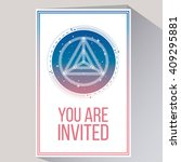 you are invited in white color... | Shutterstock .eps vector #409295881