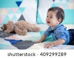cute 11 month old mixed race...   Shutterstock . vector #409299289