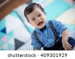 cute 11 month old mixed race...   Shutterstock . vector #409301929