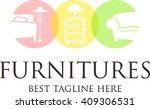 furniture logo template  | Shutterstock .eps vector #409306531