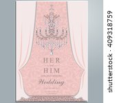 wedding invitation or card with ... | Shutterstock .eps vector #409318759